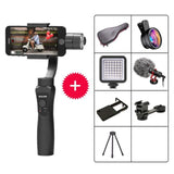 3-Axis Handheld Gimbal Stabilizer w/Focus Pull & Zoom for iPhone Xs Max Xr X 8 Plus 7 6 SE Samsung Action Camera