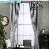 3 Colors New Thicking Chenille Fabric Silver Jacquard Blackout Curtain Drape For Bedroom Window Blind Custom Made-curtain-StyloMylo World