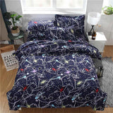 3PCS Home Bedding Set Comfortable Romantic Starry Printing Bedclothes Duvet Cover Colorful Quilt Cover Pillowcase For Bedroom-StyloMylo World
