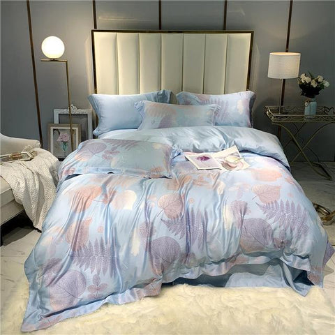42 Summer European Bedding Sets Queen King Size tencel Bedlinens Duvet Cover Bedsheet Pillow Cases
