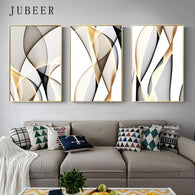 Abstract Canvas Painting Line Wall Art Decorative Picture for Living Room Nordic Decoration Home Abstract Painting  Poster