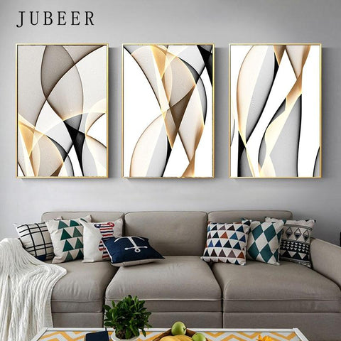 Abstract Canvas Painting Line Wall Art Decorative Picture For Living R Stylomylo World