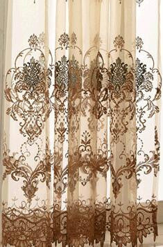 Arrival Water soluble Window Screening tulle embroidery-curtain-StyloMylo World