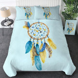 BeddingOutlet Moon Dreamcatcher Bedding Set Queen Size Feathers Duvet Cover White Bed Set Beautiful Bedclothes 3pcs