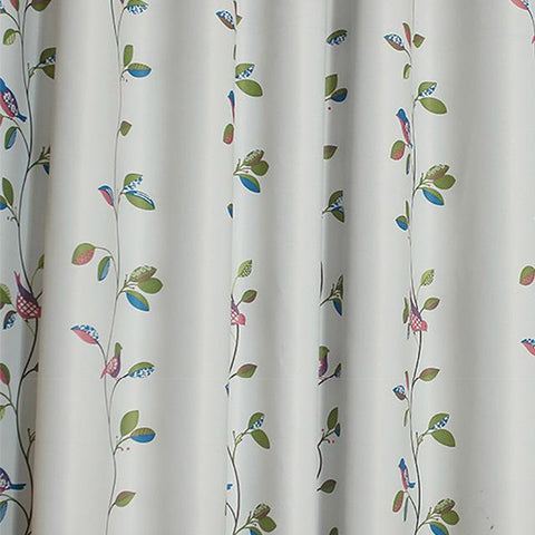 Birds Leaves Printed Curtains For Bedroom Living Room Window Drapes Pastoral Curtain And Tulle Custom