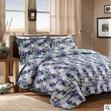 Bohemia Style Handmade Patchwork Quilt Set 3PCS Bedding Washed Cotton Quilts Quilted Bedspread Cover with Pillowcase-Beddings-StyloMylo World