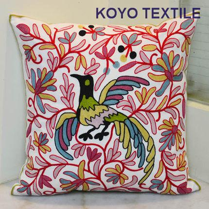 Chain Embroidered Decorative Cotton Canvas Flower Vintage Bird Leaf Geometry Sofa Car Cushion Cover Throw Pillow Cover Case-Throw Pillow Cover-StyloMylo World