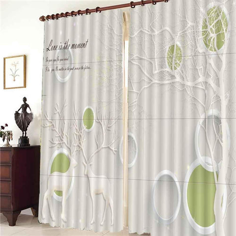 Custom Abstract tree branch rideaux pour le salon bedroom window blackout curtain 2020 The New