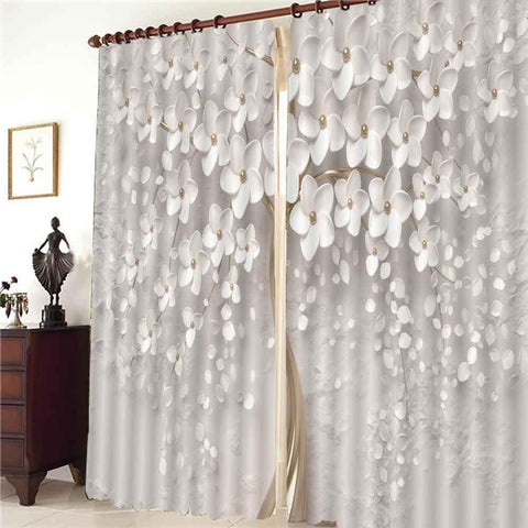 Custom Modern Window Curtains Relief tree Curtains For Living Room Bedroom Window Blackout Curtain 2020 Fashion Style Cortinas