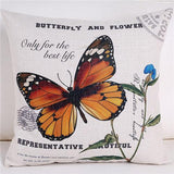 Decorative throw pillow case cover animals bird butterfly home leaf cotton linen seat cushion cover for sofa home decor fundas-Throw Pillow Cover-StyloMylo World