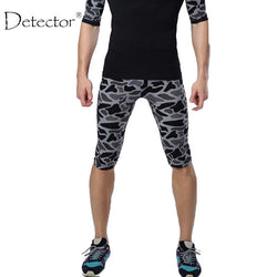 Detector Men's Summer Tight Shorts Capri Quick-drying Shorts Breathable Running Shorts-men sports pants-StyloMylo World