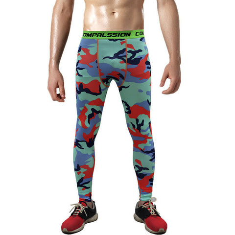 Detector Running Tights Men Jogging Sport Leggings Milk Fiber GYM Fitness Compression Pants Exercise Quick-Drying Trousers-men sports pants-StyloMylo World