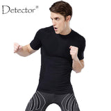 Detector Sport Man Fitness Mens Shirt Crossfit T-shirt Running Breathable Quick-Drying Stretch Tops T-shirt Cool Gym Clothing-shirts-StyloMylo World