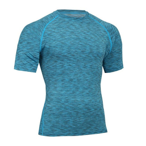 Detector Sports Mens Running Tights Shirt Basketball Fitness Breathable Quick-Drying Stretch Tops T-shirt-shirts-StyloMylo World