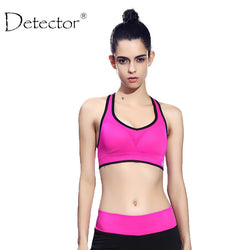 Detector Women Quick Drying Shock Absorption Professional Sports Yoga Bra Tank Top Vest Sport Fitness Yoga Seamless Running Vest-women sports bra-StyloMylo World