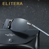 ELITERA Aluminum Magnesium Polarized Sunglasses Men Sports Sun glasses Driving Mirror Male Eyewear Accessories Goggle E3043-sunglasess-StyloMylo World