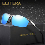 ELITERA Brand Men's Polarized Sunglasses Rimless Rectangle Driving Mirror Sport Mens Sun Glasses For Men E8530-sunglasess-StyloMylo World