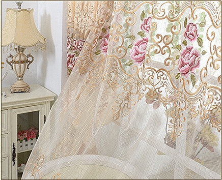 Europe Embroidered tulle Window Curtains-curtain-StyloMylo World