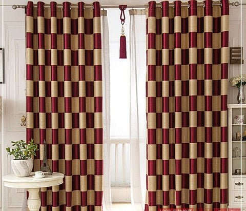 Superieur European Brief White Black Coffee Plaid Blackout/Sheer Window Curtains U2013  StyloMylo World