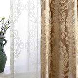 European Damask Curtains For Living Room Luxury Jacquard Blind Drapes Window Panel Fabric Curtain For Bedroom Shading 70% Custom-curtain-StyloMylo World