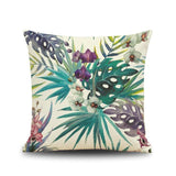 Fashion High Quality Cotton Linen Africa Tropical Plant Banana Leaf Decorative Throw Pillow Case Cushion Cover Sofa Home Decor-Throw Pillow Cover-StyloMylo World