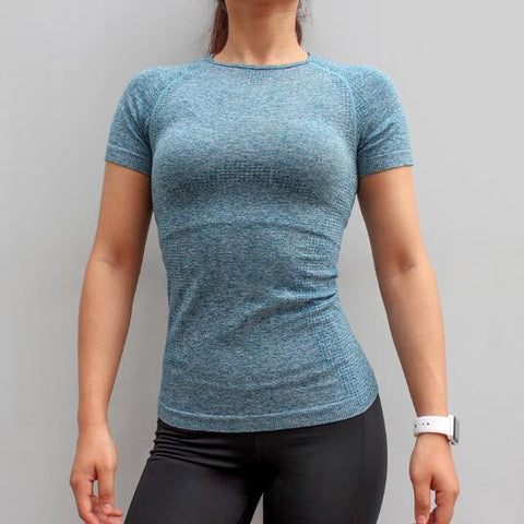 Fitness Women Seamless Sport Shirt Sports Wear For Women Gym Running Top Short Sleeve Yoga Workout Tops Training Sports
