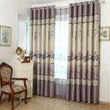 Floating window curtain cloth finished the modern study of Chinese contracted sitting room-curtain-StyloMylo World