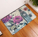 Floor Mat Vintage Flower Suede Doormat Home Decoration Outdoor Kitchen Mat Bathroom Carpet Bath Mat Toilet Rugs 50x80cm-floor mats-StyloMylo World
