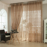 Flower Money Tree Window Screening Voile Gauze Tulle Curtain for Bedroom Living Room Cafe Decorative Hotel Translucidus-curtain-StyloMylo World