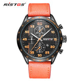 Hot Sale Sport Men Watch Mens Calendar Genuine Leather Quartz Watches Male Fashion Military Waterproof Wristwatch Relojes-watches-StyloMylo World