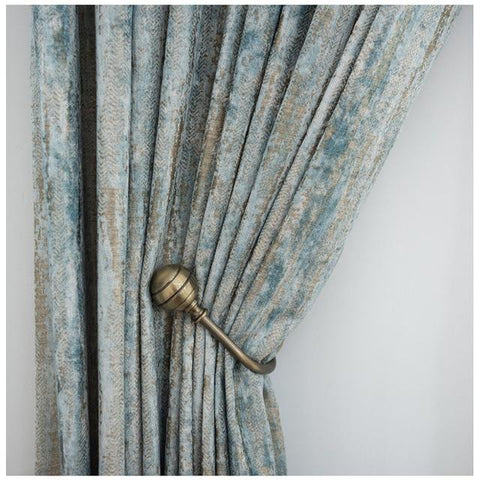 Jacquard Chenille Fabric Curtains For Living Room Blackout Curtains For Bedroom Window Treatment Glacier Pattern Custom Size