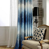 Japanese and Korean Printed Cotton Curtains for Living Room Tulle Veil Liner Cortinas for Bedroom Screen Single Panel-curtain-StyloMylo World