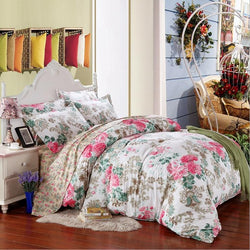 King Twin Full Queen 4pcs Beding Sets Flower Printed Bedding Sets Bed Clothes Bedding Set Many Colors-Beddings-StyloMylo World