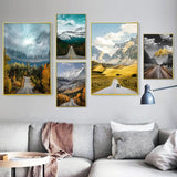 Landscape Pictures Home Decor Nordic Canvas Painting Wall Art Modern Realist Nature Scenery Posters and Prints for Living Room