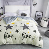 Latest !  1 Piece Duvet Cover with Zipper 100% Cotton Quilt or Comforter or Blanket Case Pastoral Printing