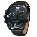 LATEST Leather Sports Watch Male Big Size Quartz Wrist Watches-watches-StyloMylo World