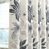 LifeTree Pastoral Leaves Printed Cotton Linen Curtains For Living Room Bedroom Window Tulle Curtains Custom Made-curtain-StyloMylo World