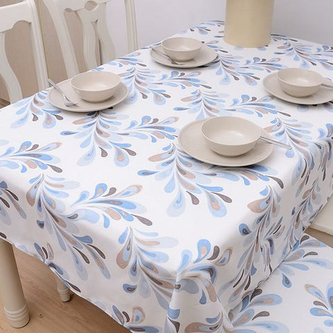 Linen Cotton Table Cloth Japan Style Flower Print Nappe Tablecloth Dustproof Coffee Table Cover Toalha De Mesa-Table Cloths-StyloMylo World