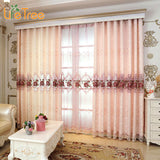 Lovely Pink Peony Embroidered Luxury Curtains For Bedroom Classic Living Room Window Curtain Tulle & Drapes Custom Made-curtain-StyloMylo World