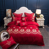 Luxury Bedding set  King Queen size 4/7Pcs White Wedding Bed set Duvet cover Bedsheet decorative pillowcase38