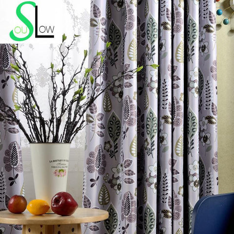 Luxury Blackout Window Curtains For Living Room European Style Floral Printed Rideaux Pour Le Salon Cortinas Para Sala De Luxo C60-curtain-StyloMylo World