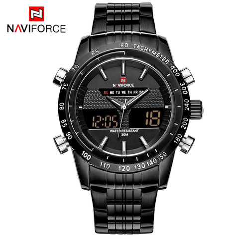 Luxury Brand Full Steel Men Military Sports Watches-StyloMylo World