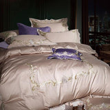 Luxury Egyptian Cotton Embroidery Luxury Bedding set Noble Palace Royal Bed set King Queen Size Duvet cover Bedsheet se-bedsheets-StyloMylo World