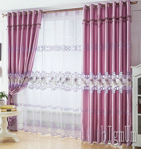 Luxury Window Curtain For Living Room/Bedrooms /Hotel White/ / Golden/ Purple Home Furnishing/Treatment FreeShipping-curtain-StyloMylo World