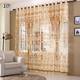 Luxury Window Curtains Set for Living Room Sheer Drapes European Curtains for Bedroom (1 PC Curtain: Hook + 1 PC Tulle: Grommet)-curtain-StyloMylo World