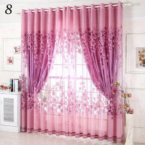 Luxury Window Curtains Set for Living Room Sheer Drapes European ...