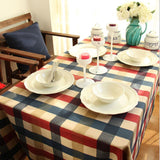 Mediterranean plaid traditional chinese table cloth cotton rectangular tablecloths series-Table Cloths-StyloMylo World