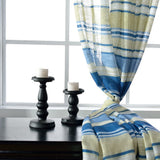 Mediterranean style bule striped voile curtains fresh sheer curtains for bedroom and living room children room-curtain-StyloMylo World