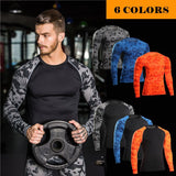 Men Gymming Workout Sporting Top QUICK-DRY Brand Long Tee T Shirt Shaper Slimming Yogaing Fitness Exercise Runs Clothing MA46-gym wear-StyloMylo World