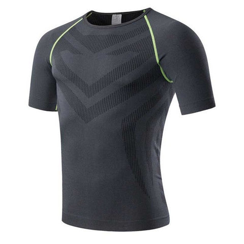 Men Pro Quick Dry Workout Gymming Long Top Tee Sporting Runs Yogaing Compress Fitness Exercise T-shirts Clothing T Shirt 6023-men top-StyloMylo World
